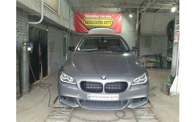 Тюнинг звука BMW F10 3.0, 2014, установка М-насадок