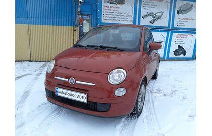 Удаление катализатора Fiat Сinquecento 500, замена гофры,  замена глушителя