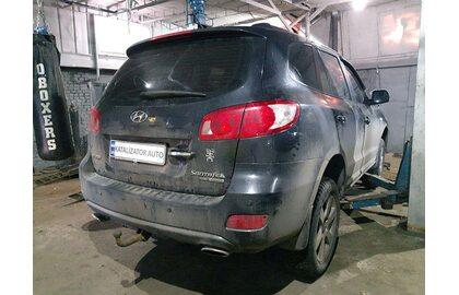 Удаление катализаторов Hyundai Santa Fe 2.7 2008, замена гофры