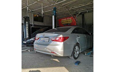 Построение выхлопной системы для Hyundai Sonata 3.0т, 2013