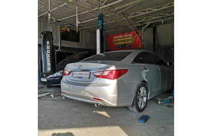 Построение выхлопной системы для Hyundai Sonata 2.0т, 2013