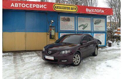 Тюнинг выхлопной системы Mazda 3, раздвоение выхлопа, установка насадок