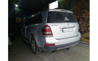 Тюнинг звука выхлопа Mercedes GL 550, 5,5 2009, удаление катализаторов