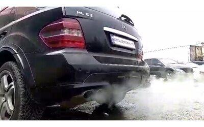 Добавление звука выхлопа Mercedes ML 63