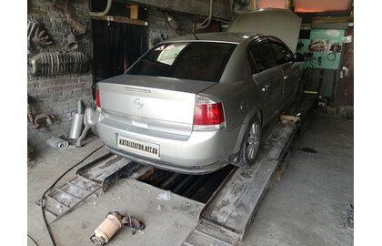 Ремонт выхлопной системы, удаление катализатора, замена на пламегаситель Opel Vectra C
