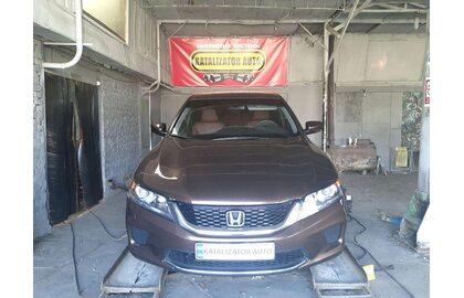Раздвоение выхлопа, установка насадок Honda Accord 2,4, 2013 г.в.
