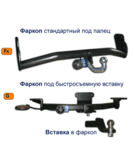 Фаркоп Subaru Forester (2002-2008)